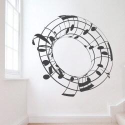 Vinil cilindro notas musicais