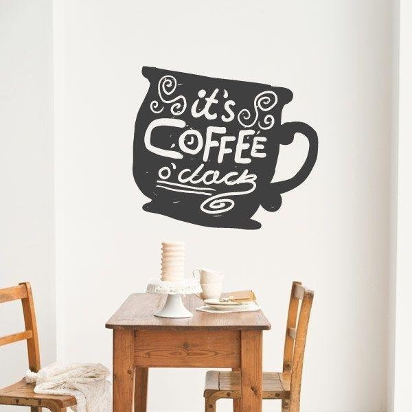 Vinil decorativo it's coffee