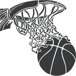 Vinil decorativo cesto basquetebol