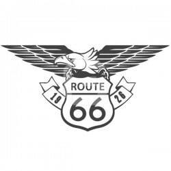 Autocolante decorativo route 66