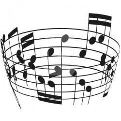 Vinil funil notas musicais