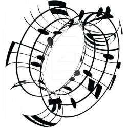 Sticker notas musicais 4