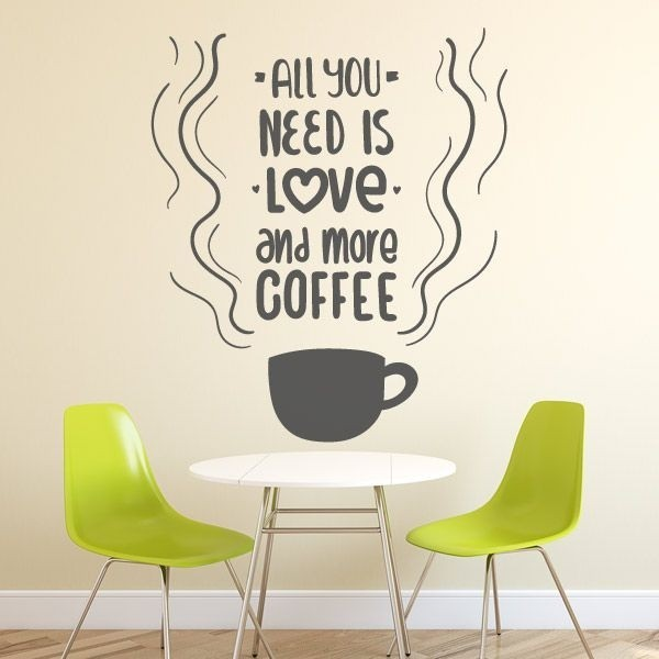 Vinil all you need is love coffee