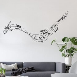 Autocolante notas musicais 1