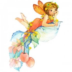 Vinil infantil menina com flores