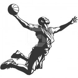 Vinil de parede basquetebol 4