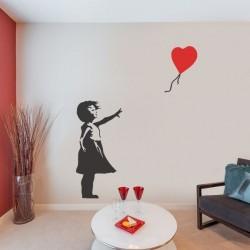 Vinil Banksy menina com balão
