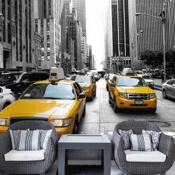 Foto mural táxis em New York 1