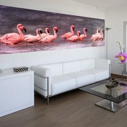 Mural flamingos cor de rosa