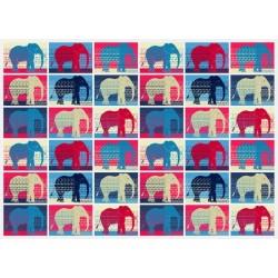 Vinil para cómodas elefantes coloridos