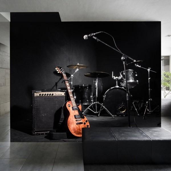 Papel pintado palco de músicos