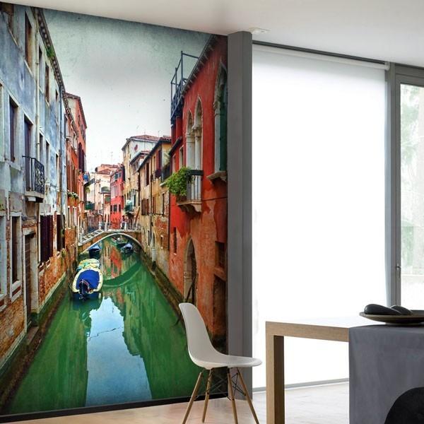 Mural canais de Veneza 1