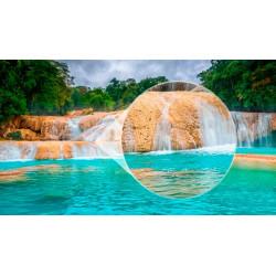Foto mural cascatas água azul