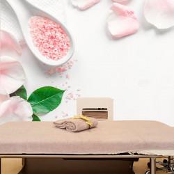 Foto mural sais de banho de rosas