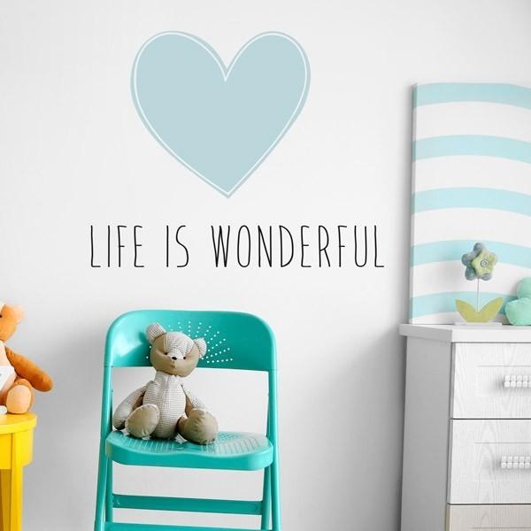 Vinil decorativo life is wonderful
