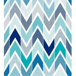 Vinil formas geométricas em azul
