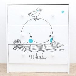 Vinil infantil baleia e o...