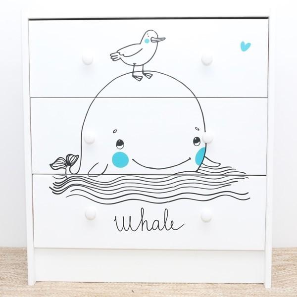 Vinil infantil baleia e o passarinho