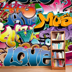Foto mural grafiti music
