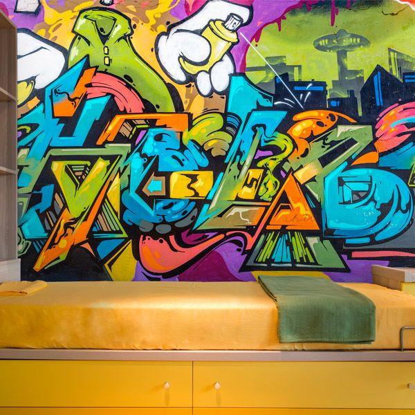 Foto mural grafiti formas