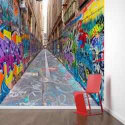 Foto mural grafiti de ruas