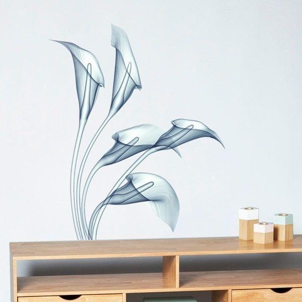 Vinil decorativo radiografia flor