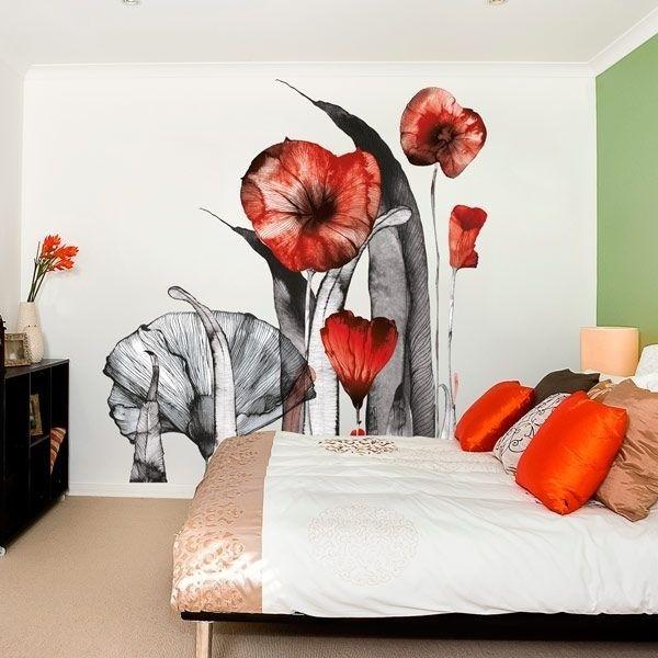 Adesivo ilustração flores