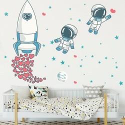 Vinil infantil astronautas