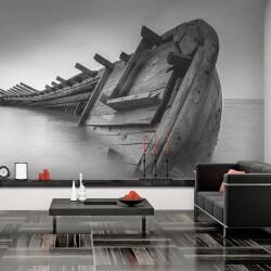 Foto mural barco, preto e...