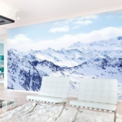 Mural de parede neve na...
