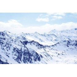 Mural de parede neve na montanha