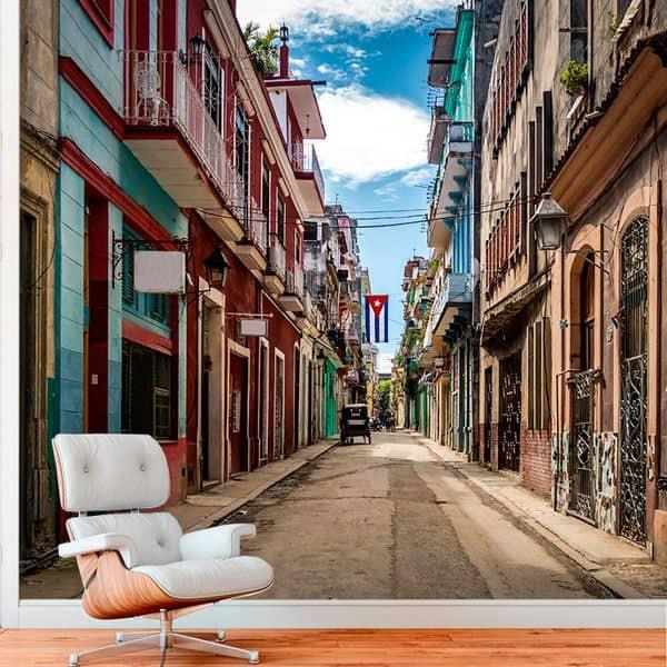 Foto mural rua Havana
