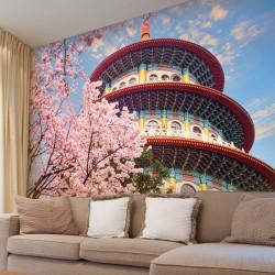Foto mural jardim sakura