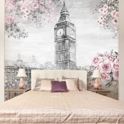 Mural aquarela de Londres