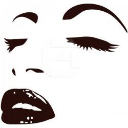 Autocolante rosto de mulher 1