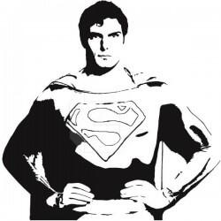 Vinil decorativo Super Homem 1