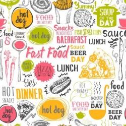 Papel de parede fast food