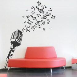 Vinil decorativo microfone 1