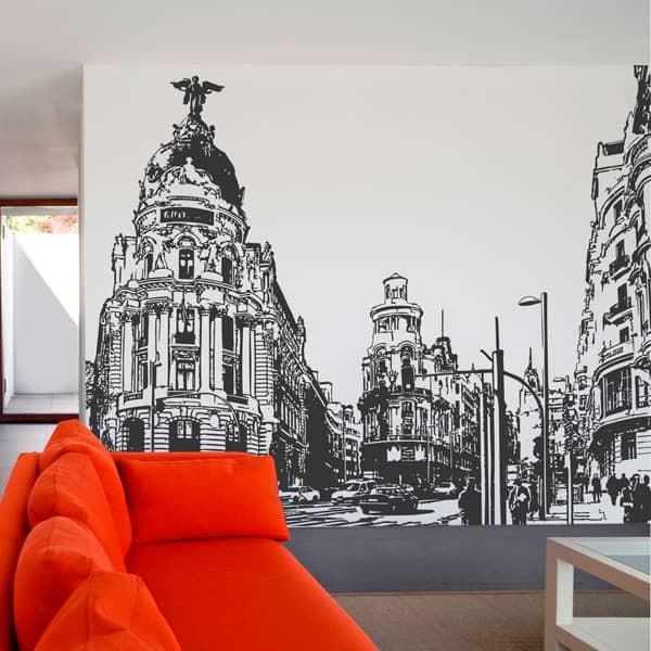 Mural ilustrativo rua Gran Vía