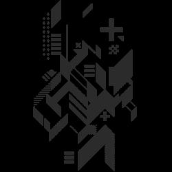 Autocolante formas abstratas