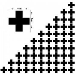 Sticker silhueta de cruzes