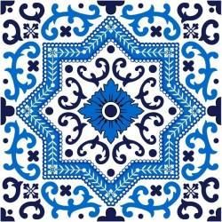 Vinil de azulejo azul 1