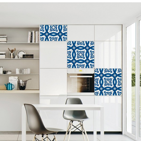Adesivo de azulejo azul 2