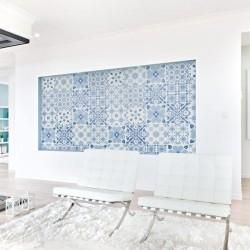 Vinil azulejo português azul 1