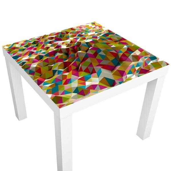 Decorativo mesa ikea triângulos 3D