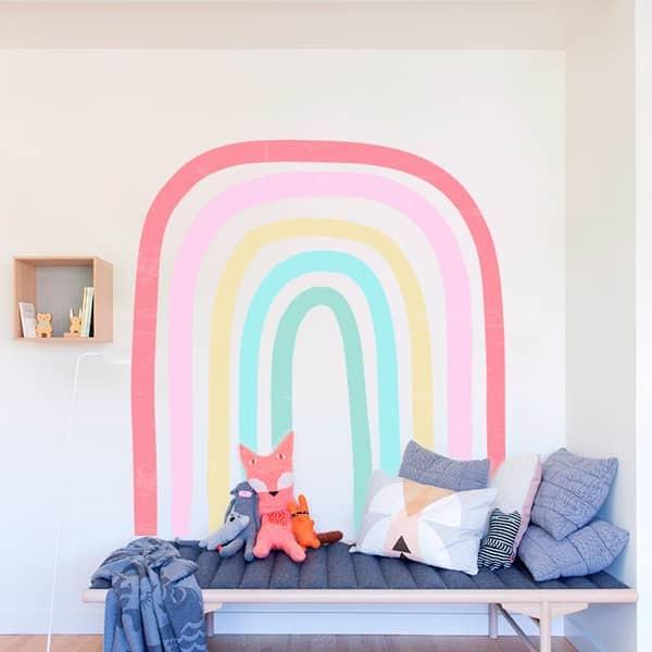 Adesivo decorativo arco-íris