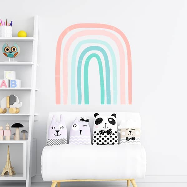 Adesivo infantil arco-íris pastel