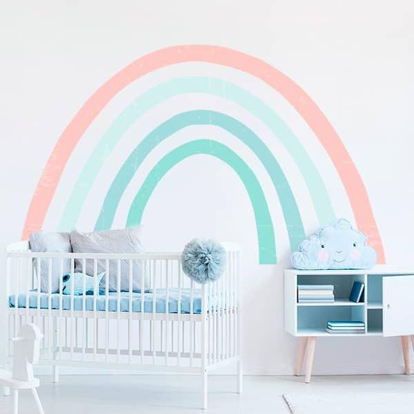 Adesivo arco-íris em tons pastel