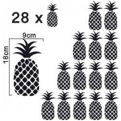 Autocolante decorativo de ananases
