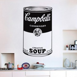 Vinil pop art Campbell's soup